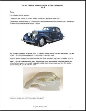 how to resin cast the fenders and fiberglass a body for a large scale model car. Black Bedroom Furniture Sets. Home Design Ideas